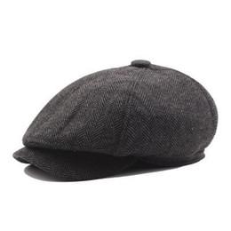 036bf41f1c46e VOBOOM Women Men Tweed Twill Woolen Newsboy Cap Navy Blue 8 Panel Country  Baker Boy Ivy Flat Cap Beret Hats Cabbie Boina 111 Y18102210