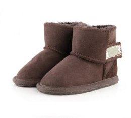 Promoción navideña botas de algodón WGG australianas ropa infantil niños y niñas bebé botas de nieve calientes niñas estudiantes botas de invierno nieve