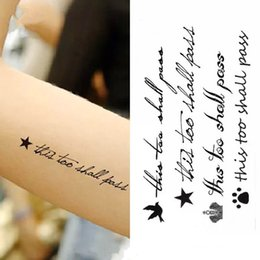 $enCountryForm.capitalKeyWord NZ - Waterproof Temporary Tattoo Sticker on body art cartoon words Water Transfer flash tattoo fake girl boy free shipping