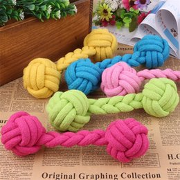 Knotting rope online shopping - Kawaii Puppy Cotton Chew Knot Toy Durable Teethers Dogs Chewing Bone Design Rope CM Length Teething Pets Molar Props rc Z