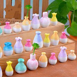 fairy garden ornaments 2019 - Mini Resin Vase Simulation Creative Vase Miniature Fairy Garden Desktop Handicraft Ornaments DIY Material Micro Landscap