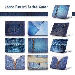 Macbook Retina 13 Inches Australia - NEW Jean cloth Pattern Series Matte Case Cover For Apple macbook Air Pro Retina 11 12 13 15 laptop bag For Mac book 13.3 inch