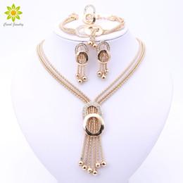 $enCountryForm.capitalKeyWord Australia - ewelry america Women Bridal Fine Crystal African Beads Jewelry Sets For Wedding Party Dress Accessories Set Earrings Pendants Necklace Ri...