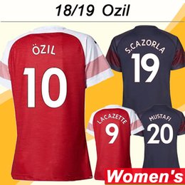 208621ed41d Ozil Soccer Jersey Canada - 2018 19 OZIL Women Soccer Jerseys RAMSEY  LACAZETTE KOSCIELNY Home Away