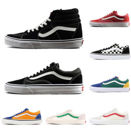 540b058eada Vans old skool sk8 hi men women canvas sneakers FEAR OF GOD black white  YACHT CLUB fashion skate casual shoes on sale
