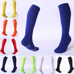 football sweat towels 2019 - Custom LOGO Pure Color Children's Football Socks Thicken Towel Bottom Socks Stockings Sweat-Absorbent Wearable Outd