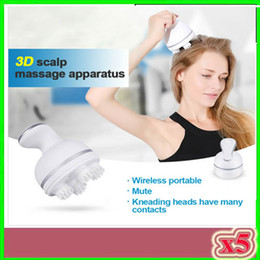Massage Grip Canada - Newest 3D Kneading Scalp Massage Electric Head Massage Machine Brain Relaxation Relieve Headache Dragon Gripping Head Massager 5pcs ZY-3D-1
