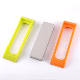 Slip StoneS online shopping - Portable Knife Sharpening Stone Non Slip Whetstone Water Stones Fast Grinder Grindstone Outdoor Cutters Kitchen Equipment Hot Sale qj gg
