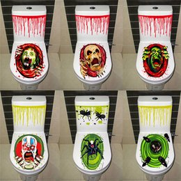 $enCountryForm.capitalKeyWord NZ - Halloween Toilet Seat Grabber Cover Scary Horror Fancy Dress Party Decoration Halloween Gruesome Bathroom Toilet Seat Lid and Sticker