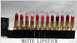12 Colours Lipstick Australia - Factory Direct Free DHL New New Makeup Rouge Ultra Hydrating Lip Colour Matte Lipstick Lettering Logo Lipstick Have 12 Different Colors