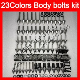 China Fairing bolts full screw kit For YAMAHA YZFR1 00 01 02 03 YZF R1 YZF1000 YZF-R1 2000 2001 2002 2003 Body Nuts screws nut bolt kit 25Colors supplier r1 fairing bolt kit suppliers