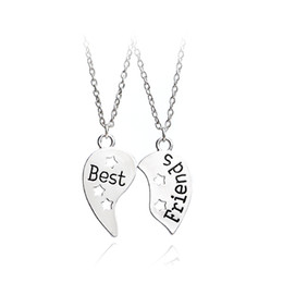 6a86f86593 EngravEd couplEs nEcklacEs online shopping - 2pcs set Best Friend Necklace  For Handstamped BFF Couple Chains
