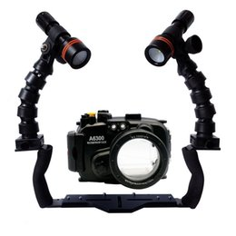 $enCountryForm.capitalKeyWord NZ - For Sony A6000 A6300 A5000 A5100 A7 II Camera Underwater Housing Diving Case+Dual Flex Arm Bracket+ Archon D11V Led Video Torch