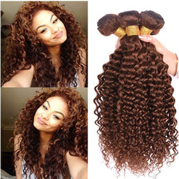 Wholesale New Arrive #4 Middle Brown Hair Water Wave Brazilian Virgin Hair 3Bundles Brown Deep Wave Curly Hair Extension 8A Grade High Quality