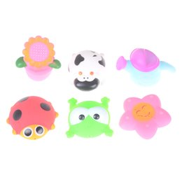 Chinese  2018 1pc Baby Bath Toys Soft Rubber Duck Animals Car Boat Kids Water Toys Kid Squeeze Sound Spraying Beach Bathroom Kwayi manufacturers