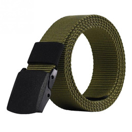 Green Plastic Army Men Canada - 2018 Automatic Buckle Nylon Belt Male Army Tactical Belt Mens Military Waist Canvas Belts