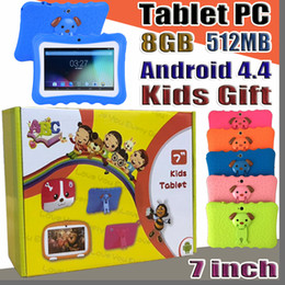 """A33 Quad Core Tablet Australia - DHL Gift Kids Brand Tablet PC 7"""" Quad Core children tablet Android 4.4 Allwinner A33 google player wifi big speaker protective cover L-7PB"""
