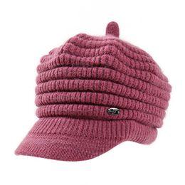 624dda6f3945f mrwonder Women Winter Fleeced Warm Cap Beanies Knitted Peaked Hat