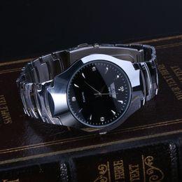 men simple style watch 2019 - Men Top Luxury Clock Quartz Wristwatch Black White Business Simple Style Quartz Watch for Men& Women 3.5cm 1.38 cheap me