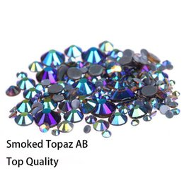Nail art decorations Smoked Topaz AB AAA high Quality Glass Crystal SS16-SS30  Hotfix Rhinestones For clothing Garment Accessorie 63dca2d0dbd7