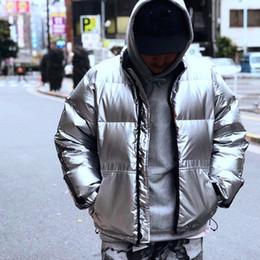 79940d8c Box Logo 3M Reflective Sleeve Logo Puffy Down Jackets Casual Winter Warm  Thicken Bread Down Coat Fashion Street Outerwear HFYMYRF019