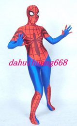 Spiderman Party Suit Australia - Unisex Red Blue Lycra Spandex Spiderman Suit Catsuit Costumes Unisex Spiderman Costumes Halloween Party Fancy Dress Cosplay Costumes DH281
