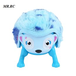 electronic shapes 2019 - Kids Hedgehog Shaped Electronic Cute Pet Touch Toy with Hedgehog Roll Induction Interactive Educational Toys for Boys Gi