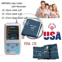Wholesale ABPM50 Handheld hours Ambulatory Blood Pressure Monitor with PC Software for Continuous Monitoring NIBP USB Port with Cuffs