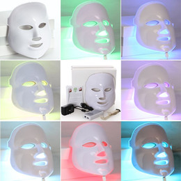 home light therapy for wrinkles NZ - LED facial Mask led light therapy mask for face beauty Skin Rejuvenation with 7 Colors Light Photon Beauty Therapy for home use