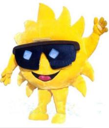 Wholesale mascot costume sun for sale – halloween 2018 Discount factory sale Cartoon Mr Sun Mascot Costume Fancy Birthday Party Dress Halloween Carnivals Costumes