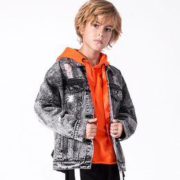 337f8578b4760 5-12 ans Rétro Garçons Denim Vestes Nouveau Ados Sur Manteau Marque De  Bonne Qualité Veste Pour Garçon Automne Hiver Casual Enfants Denim Outwear