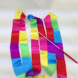 $enCountryForm.capitalKeyWord NZ - High Quality Super Sell Colorful 4m Gym Dance Ribbon Rhythmic Twirling Products Sports Art Gymnastic Streamer