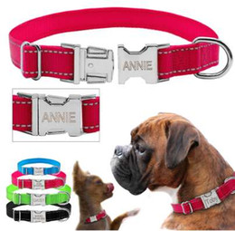 customized dog collars NZ - Didog Personalized Dog Collar Reflective Nylon Dogs Collars Customized Dog Nameplate Engraved for Free