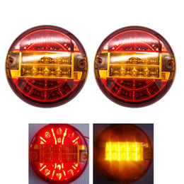 $enCountryForm.capitalKeyWord NZ - 2Pcs Waterproof Tail Lamp Constant Voltage Led Rear Round Tail Lamp Light Lorry Truck Trailer Stop Brake Light 24V
