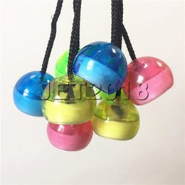 freeshipping yoyo NZ - 2018 New toys Colorful LED Finger Yo-Yo Fingertips Light Decompression YoYo Ball Decompression Fingertips Yo-Yo Ball Toys