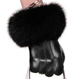 $enCountryForm.capitalKeyWord Australia - Winter Spring Fashion Winter Sheepskin Gloves Top Lambskin Solid Real Genuine Leather Women Wrist Driving Glove D18110705