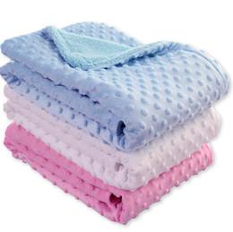Детские горох одеяло 102*76 см комплект постельных принадлежностей диван одеяло дети мягкая пена одеяла бросить ковры спальный мешок OOA3839 на Распродаже