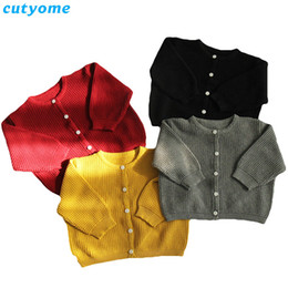 Cotton Cardigans For Girls Australia - Cutyome Baby Boys Girls Cardigan Sweater Cotton Candy Color Long Sleeve Newborn Boys Clothes For Infant Knitted Outwear Sweaters