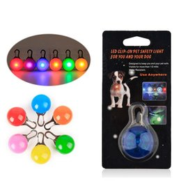 Wholesale Pet Led Light Dog Cat Waterproof Dog Illuminated Collar Safety Night Walking Lights ID Tags Pet Dog Pendants Flashing Led Collar