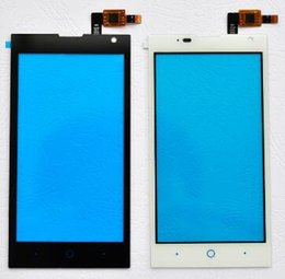 zte phones NZ - Black white New touch panel Screen Digitizer Glass Lens Sensor for ZTE Blade G Lux V830W Kis 3 cell phone