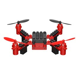 Kids Blocks Wholesale Australia - 2018 New KY201 2.4G DIY Building Blocks RC Drone 3D Headless Educational Toy Mini Drone Quadcopter RC Helicopter For Kids Gift