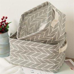 $enCountryForm.capitalKeyWord Australia - 1 Pc Printing Cotton Linen Desktop Storage Organizer Sundries Storage Box Cabinet Underwear Basket cartoon