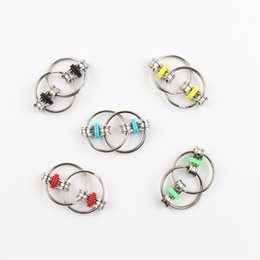 Steel ringS for Sale online shopping - Creative Decompression Unique Key Buckle Fidget Cube Vent Keychain For Adults Reduce Pressure Metal Fun Keys Ring Hot Sale yy Z