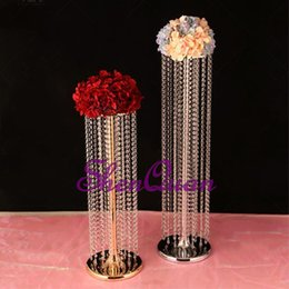 $enCountryForm.capitalKeyWord Australia - Wedding Gold Road Lead Flower Table Vase Stand for Wedding Centerpiece Decoration,Yes Handmade and Weddings Use crystal flower stand
