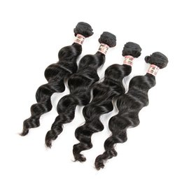 $enCountryForm.capitalKeyWord NZ - Brazilian Loose Wave Hair Weaves 4 Bundles Virgin Hair Extensions Can Be Straightened and Curled Nice Texture Loose wave
