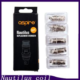 Nautilus BVC Bobinas 1.6ohm 1.8ohm 2.1ohm Substituição Vertical Vertical bobinas para Nautilus Mini Tanque 0202021 em Promoção