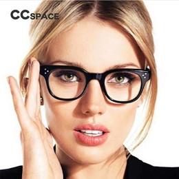 ce0de7359fb CCSPACE Classic Rivet Square Glasses Frames Men Women Retro Brand Designer  Optical EyeGlasses Fashion Eyewear 45138
