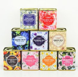 Metal Tea Tin Containers Wholesale NZ - Metal Portable vintage Tea Tins Lids Container Gifts Boxes for wedding birthday company gift package SN651