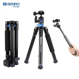 Wholesale Oversea Stock Benro IS05 Aluminum Alloy Tripod Kit Center Column Can be Selfie Stick Monopod for Smartphones Mirrorless Cameras