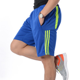 Verano para hombre Pantalones cortos para correr Deportes Hombres cortos Rayas de secado rápido Fútbol Tenis Jersey Gimnasio Entrenamiento Ropa deportiva Pantalones cortos de playa para hombre en venta